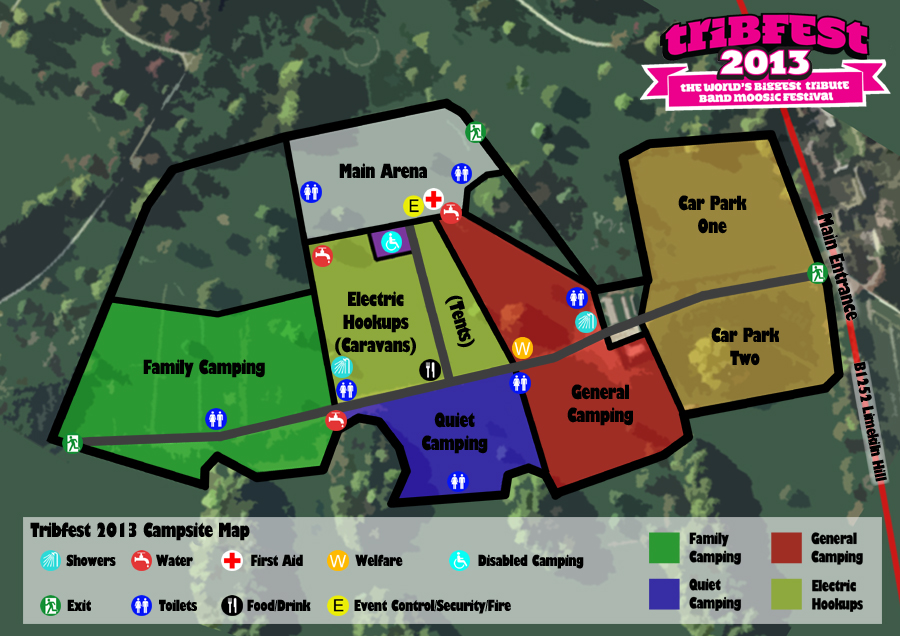 Tribfest 2013 Campsite Map