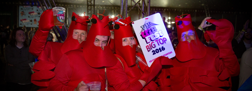 Some fishy fancy dress at Tribfest, the world's biggest tribute band music festival.