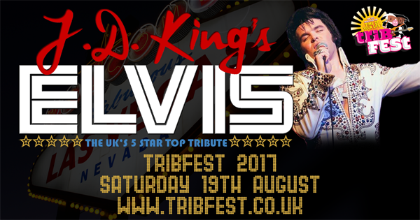 JD King, the ultimate Elvis Presley tribute band, headlining Tribfest 2017, the world's biggest tribute band music festival held annually at Sledmere House, East Yorkshire each August.